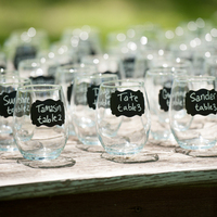 Wine Glass Escort Cards