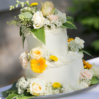 Cheerful Spring Wedding Cake