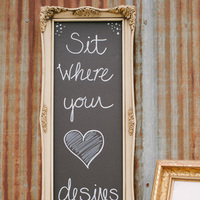 Chalkboard Seating Sign