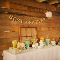 Mint Colored Candy Station