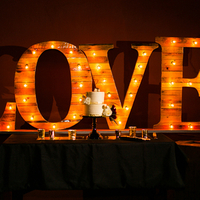 Wood Marquee Love Sign