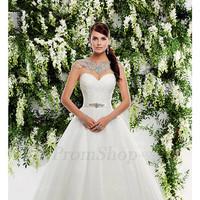 Fabulous Ball Gown Buttons Natural Sweetheart Wedding Dresses