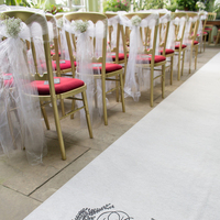 DIY Monogram Aisle Runner