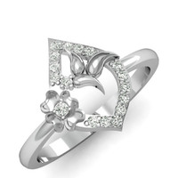 The Ambra Wedding Silver & Diamond Rings