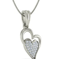 Buy the Delina Wedding Silver Jewellery Pendant online