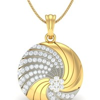 Buy the Twirl Wedding Diamond Pendants Set
