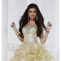 Sweetheart Short Natural Lace-up Homecoming Dresses