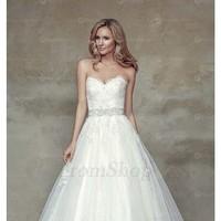 Fabulous Garden Sweetheart Natural Sleeveless Tulle Wedding Dresses