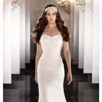 Ivory Sheath Empire Sleeveless Wedding Dresses