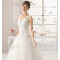 New Style Chiffon Sleeveless V-neck Empire Wedding Dresses