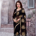 1465984507 thumb black zari work saree for party wear 1012