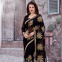 1465984507 thumb photo preview black zari work saree for party wear 1012