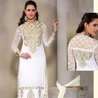 Off White Wedding Wear Salwar Kameez - Fashionfiza.com