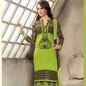 1465985306 thumb photo preview green festival wear straight suit with cotton material 1006