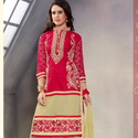 1465985306 thumb photo preview red embroidered work straight suit for festival wear 1001