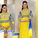 1465985307 thumb photo preview yellow cotton material straight suit with embroidered work 1002