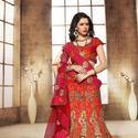 1465986700 thumb photo preview orange wedding wear a line lehenga choli with dhupion fabric 2003