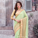 1465989086 thumb photo preview green lace work saree for wedding wear 1005