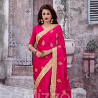 indiansareestore.com - Pink Designer Party Wear Indian Saree