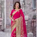 1465989087 thumb photo preview magenta designer saree for reception wear 1008