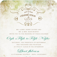 forest green wedding invitations HpI037