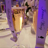 Meal Choice Champagne Glass Escort Cards