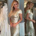 1485193952 thumb long gold bridesmaid dress