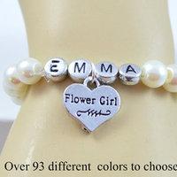 Name Flower Girl Bracelet