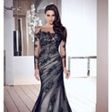 1487405068 thumb trumpetmermaid square long sleeves embroidery applique tulle evening dress