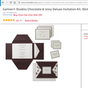 1491425213 thumb invitations   michaels  chocolate  ivory  can print in black and sage  buy 1 get 50  off